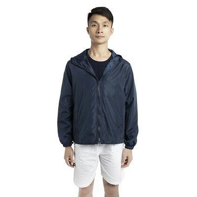 Men Waterproof Zipper Jacket Sports Casual