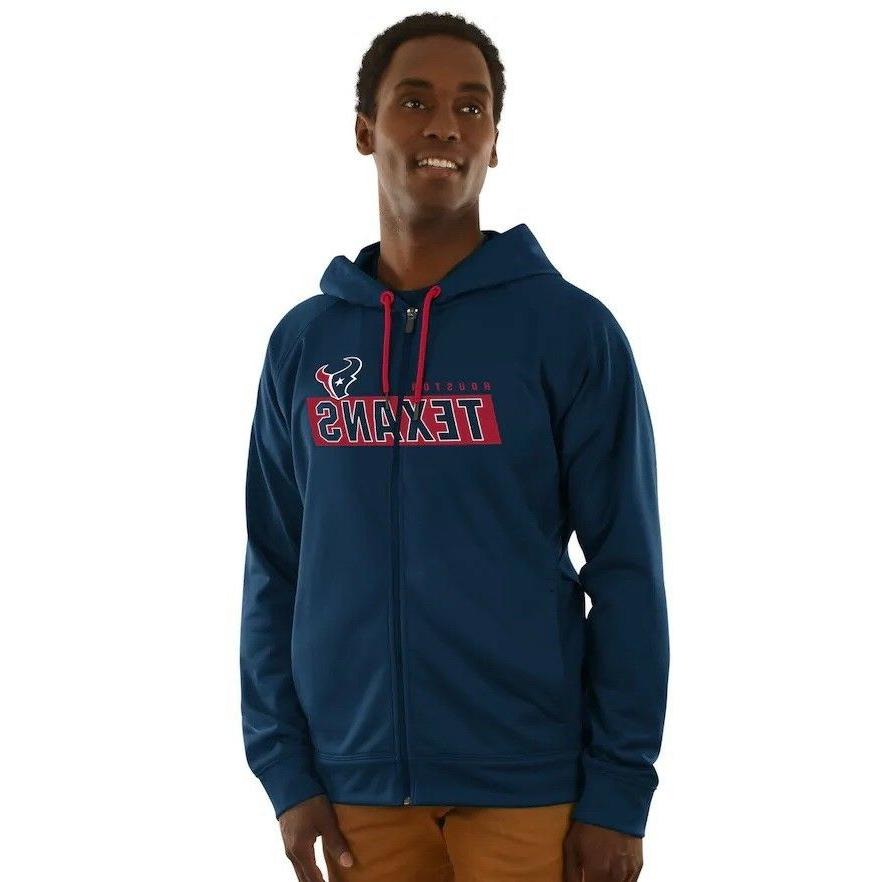 Mens NFL Houston Texans Adult Game Elite Hoodie Full Zipper