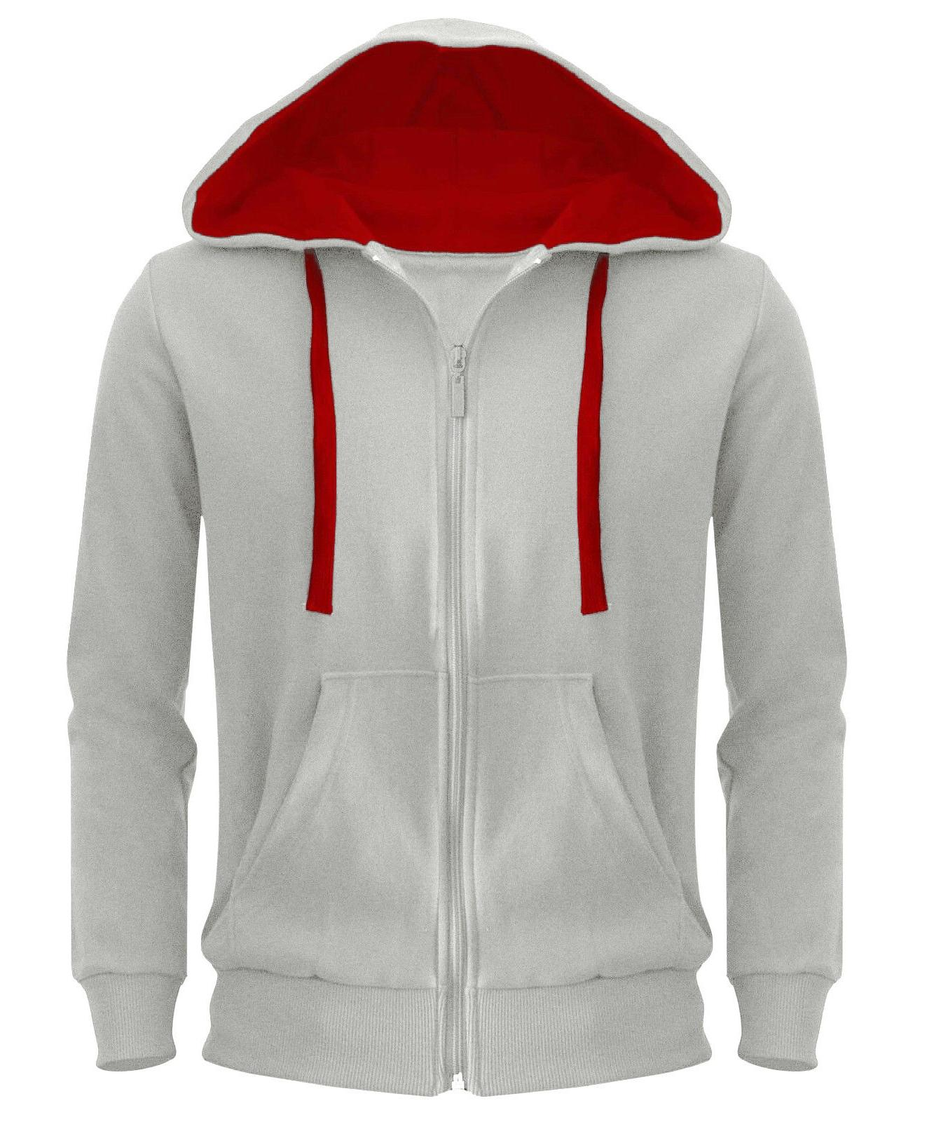 Mens Hoodie Zipper Hooded Top American New