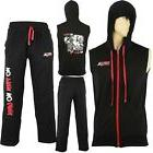 MRX Mens Sleeveless Hoodie Zipper With Gym Sweat Pant Set Bl