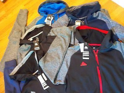 NWT, $65. MSRP, Mens adidas Climawarm Full Zip / Zipper Hood
