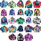 Tie Dye Hoodie Zipper 90 Cotton Pocket Tye Die S M L XL 2XL