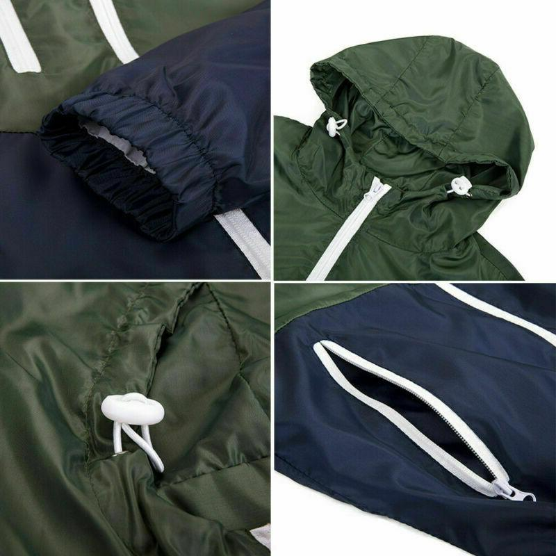 US Men Breaker Zipper Hoodie Jacket Coat
