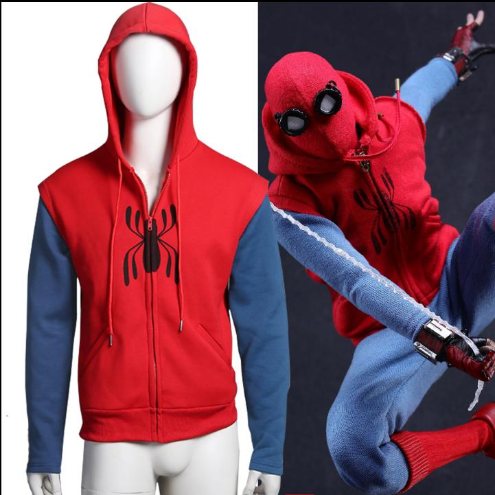 us spider man homecoming peter parkehooded coat
