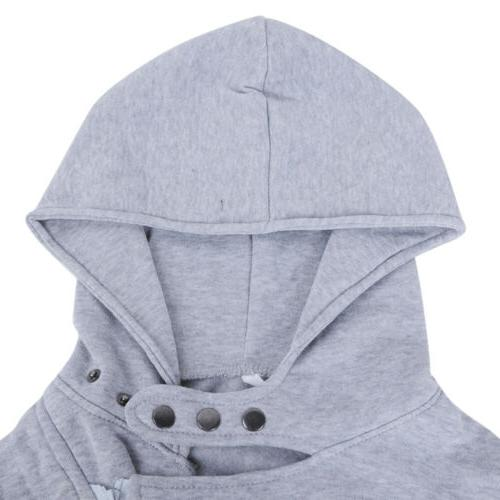 Women Casual Ladies Zipper Hooded Sweatshirt