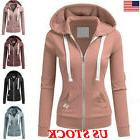 Women Zipper Tops Hoodie Ladies Hooded Sweatshirt Coat Jacke