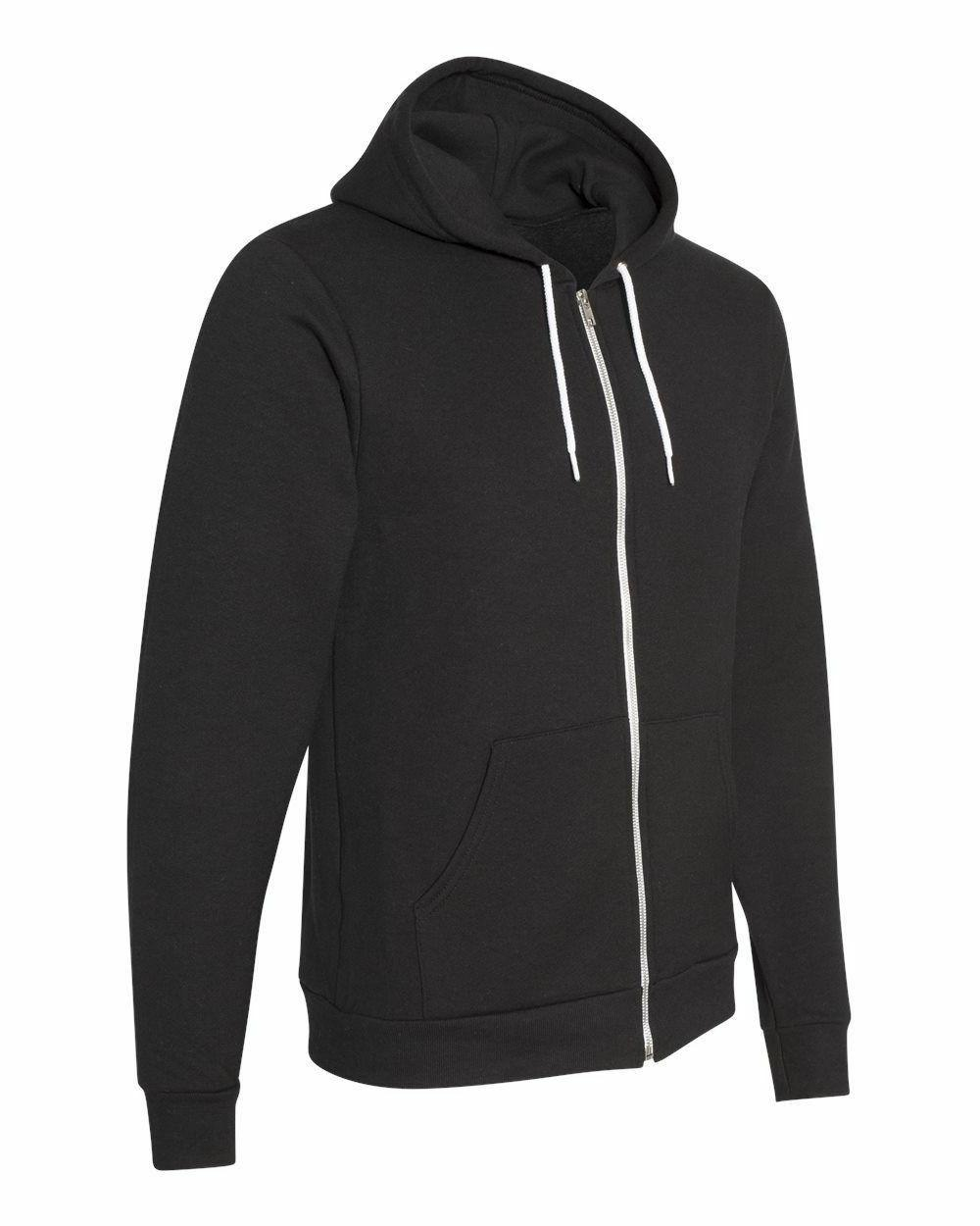American Apparel - Zip Hoodie UNISEX Fleece Hooded Sweatshirt XS-2XL,