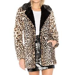 Leopard Printed Coats,Plus Size Zipper Blouse Warm Top Knitt