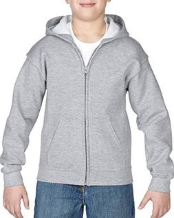 Gildan Kids' Little Full Zip Hooded Youth Sweatshirt, Sport