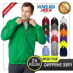 man's GILDAN Heavy Fleece full zipper Hooded Sweatshirt Hood