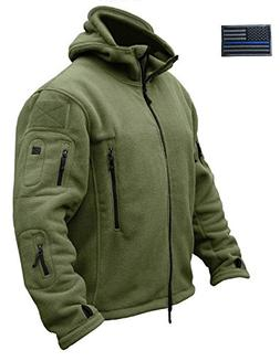 CRYSULLY Mans Army Multi-Pocket Full Zip Outerdoor Tactical