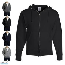 Jerzees NuBlend Mens Classic Full Zip Hoodie Zipper Hooded S