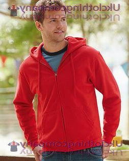 Fruit of the loom men's classic hooded sweat Jacket full zip