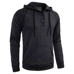 Manwan walk Men's Cotton Double Full Zipper Fleece Hoodie W9