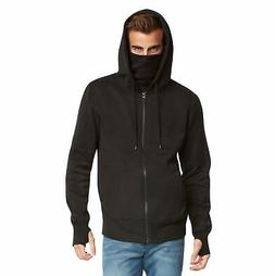 Men's Fleece Full-Zip Ninja Hoodie by 9 Crowns Essentials