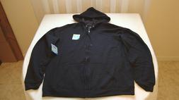 Men's Hanes Fresh IQ Comfort Fabric Zip Up Hoodie Black Size