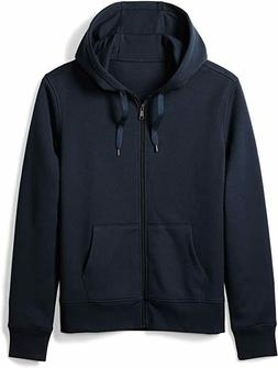 Amazon Essentials Men's Full-Zip Hooded Fleece Sweatshirt, N
