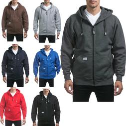 MEN'S PRO CLUB HEAVY WEIGHT FULL ZIP ZIPPER HOODIE SWEATSHIR