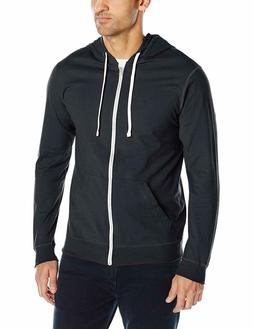 Fruit of the Loom Men's Jersey Full-Zip Hoodie Black Size Me