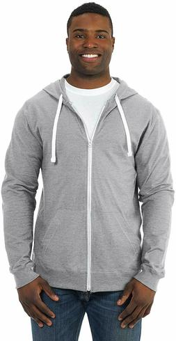 Fruit of the Loom Men's Jersey Full-Zip Hoodie - Gray - Size