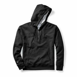 Champion Men's Powerblend® Fleece Quarter Zip Hoodie, Embro