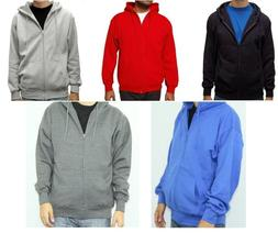 Men's Premium Full Zip Up Hoodie Classic Zipper Hooded Sweat