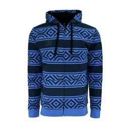 DC Men's Sherpa Full Zip Hoodie All Over Tech Print Blue Bla