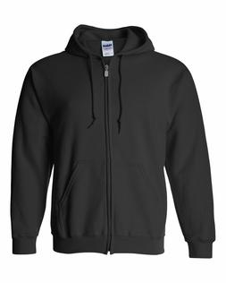 Men's Solid Full Zip Up Hoodie Classic Zipper Sweatshirt Uni