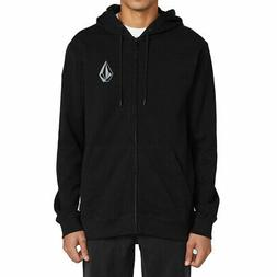 Volcom Men's Stone Zip-Up Long Sleeve Hoodie Black Clothing