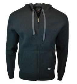 Mens OG Metal Mulisha Zip Up Fleece Hoodie Sweatshirt, Black