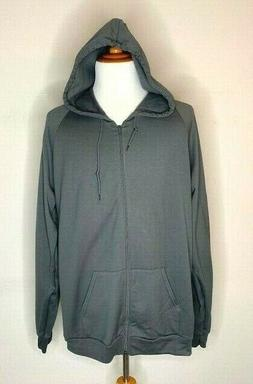 American Apparel Men's Sweatshirt Full Zip Hoodie Lightweigh