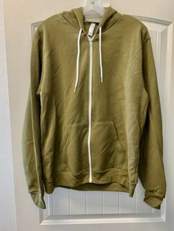 American Apparel Men's Unisex Flex Fleece Hooded Zip Hoodie