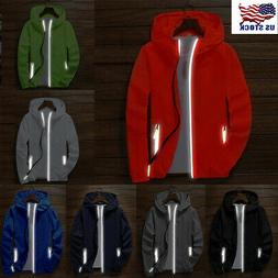 Men's Waterproof Windbreaker ZIPPER Jacket hoodie Light Spor