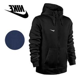 Nike Men's Zip Up Hoodie Jacket With Embroidered Swoosh And