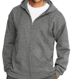 Hanes Men Ultimate Cotton® Heavyweight Full Zip Hoodie Char