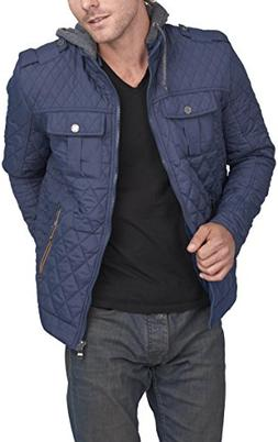 Mens Active Casual Fit Zipper Up Hoodie Quilted Jacket ABJ68