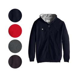 Champion Mens Big and Tall Full-Zip Fleece Hooded Jacket Wit