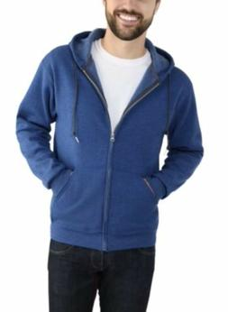Fruit Of The Loom Men's classic premium zip up hoodie blue
