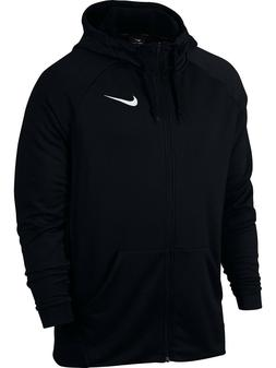 Mens Nike Dry Fleece DRI-FIT Full Zip Hoodie Sweatshirt Blac