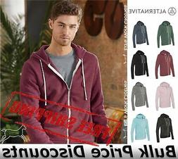 Alternative Mens Eco-Fleece Rocky Hooded Full-Zip Sweatshirt