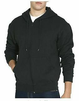 Freeway Exchange Mens Full Zip Cotton Blend Hoodie Black L X