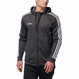 Adidas Men's Full Zip Hoodie - BLACK  * FAST SHIPPING *