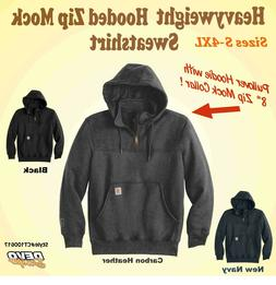 mens heavyweight hooded quarter zip sweatshirt 100617