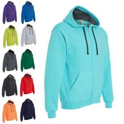 Fruit of the Loom Mens Hoodies SofSpun Hooded Full-Zip Sweat