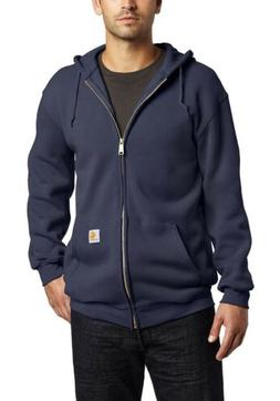 Carhartt Mens Jacket Navy Blue XL Original Fit Full Zip Hood