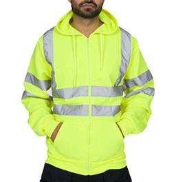 Mens Night Running Cycling Jacket High Visibility Reflective