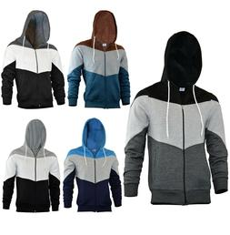 SKYLINEWEARS Mens Novelty Color Zip Hoodie Sport Outwear Fas