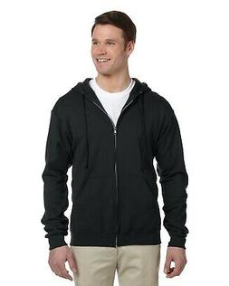 Jerzees Mens NuBlend Zip Hoodie Sweatshirt In Big Sizes