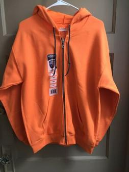 Gildan Mens Orange Heavy Blend Adult Full Zip Hooded Zipped