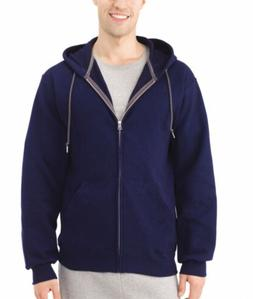 fruit of the loom men's premium zip up hoodie navy blue si
